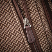 Hartmann Century Global Carry On Expandable Spinner in the color Mocha Monogram.