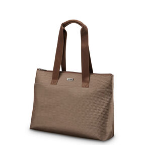 Hartmann Century Top Zip Tote in the color Mocha Monogram.