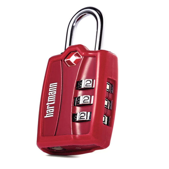 Hartmann TSA Combination Lock with Cover in the color Red.