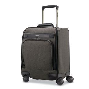 Hartmann Herringbone Deluxe Carry On Underseater Spinner in the color Black Herringbone.