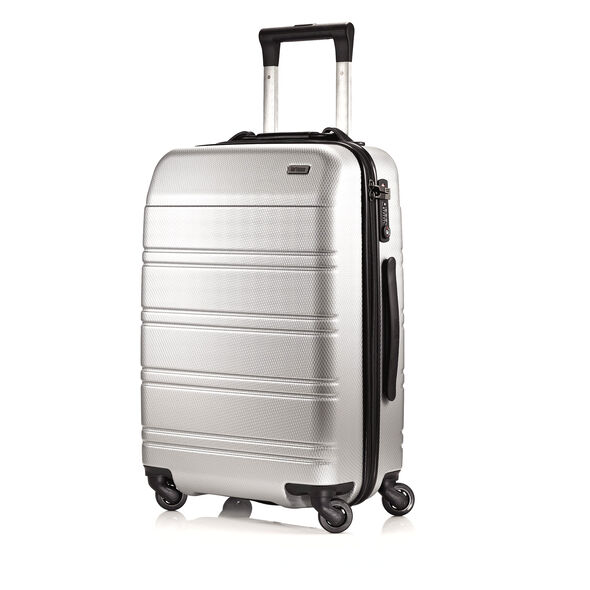 Hartmann Vigor 2 Carry On Spinner in the color Glacial Silver.