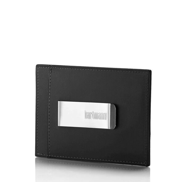 Hartmann American Belting Reserve Card Case With Money Clip in the color Heritage Black.