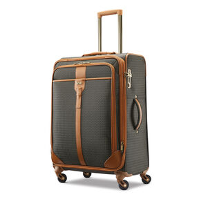 Hartmann Luxe Softside Medium Journey Spinner in the color Terracotta Jacquard.