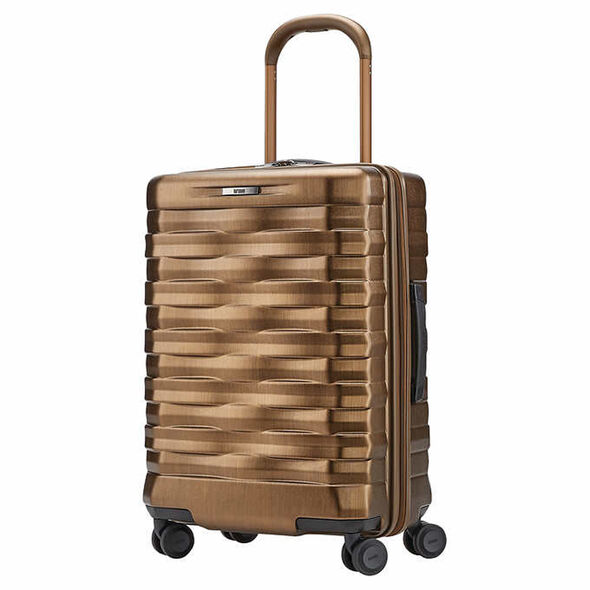 Hartmann Excelsior Carry-On Spinner in the color Brushed Gold.