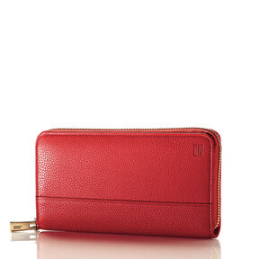 Hartmann Belle City Zip Around Wallet in the color Red.