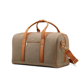 Hartmann Herringbone Deluxe Weekend Duffel in the color Terracotta Herringbone.