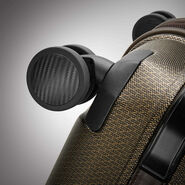Hartmann Century Hardside Carry On Expandable Spinner in the color Bronze Monogram/Espresso.