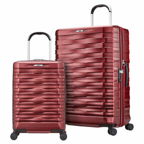 Hartmann Excelsior 2 Piece Spinner Set in the color Ruby Red.