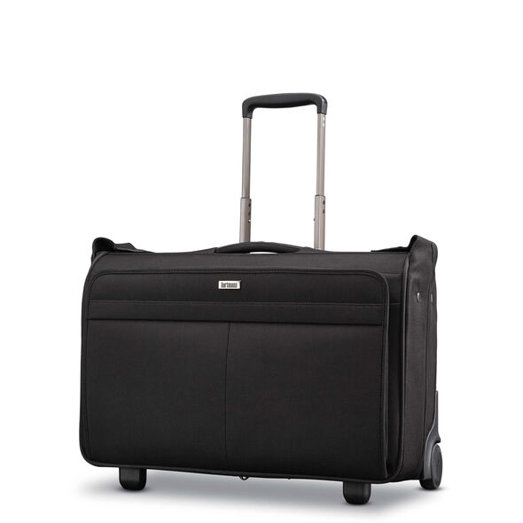 Hartmann Century Carry On Wheeled Garment Bag in the color Basalt Black.