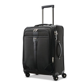 Hartmann Luxe Softside Carry-On Expandable Spinner in the color Black Jacquard.