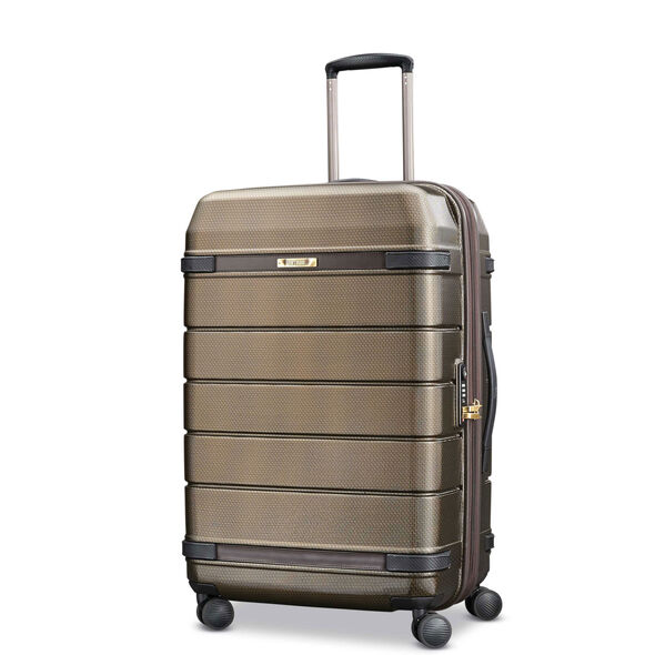 Hartmann Century Hardside Medium Journey Expandable Spinner in the color Bronze Monogram/Espresso.