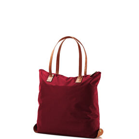 Hartmann Hudson Belting Folding Shopper in the color Black Raspberry.