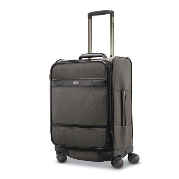 Hartmann Herringbone Deluxe Carry on Expandable Spinner in the color Black Herringbone.