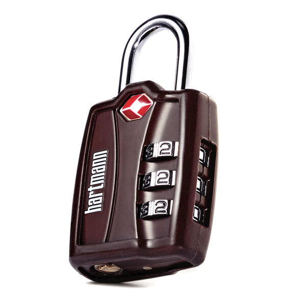 Hartmann TSA Combination Lock with Cover in the color Brown.