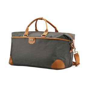 Hartmann Luxe Softside Weekend Duffel in the color Terracotta Jacquard.