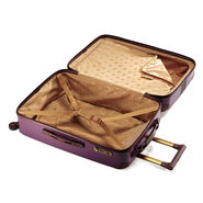 Hartmann Herringbone Luxe HS Carry On Spinner in the color Eggplant.