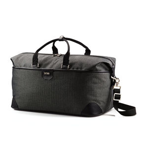 Hartmann Herringbone Luxe SS Weekend Duffel in the color Black.