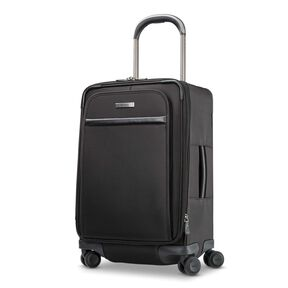 Hartmann Metropolitan 2 Global Carry On Expandable Spinner in the color Deep Black.