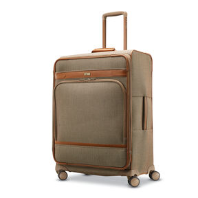 Hartmann Herringbone Deluxe Medium Journey Expandable Spinner in the color Terracotta Herringbone.