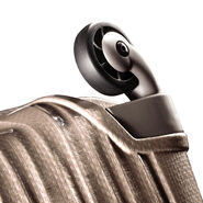 Hartmann InnovAire Global Carry-On Spinner in the color Ivory Gold.