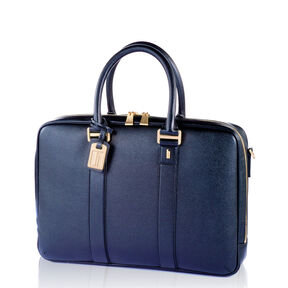 Hartmann Prestigie Bail Handle Briefcase in the color Navy.