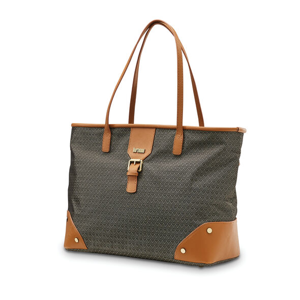 Hartmann Luxe Softside Shoulder Bag in the color Terracotta Jacquard.