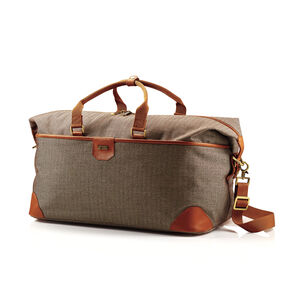 Hartmann Herringbone Luxe SS Weekend Duffel in the color Terracotta.