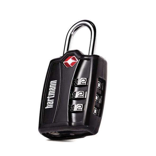 Hartmann TSA Combination Lock with Cover in the color Black.