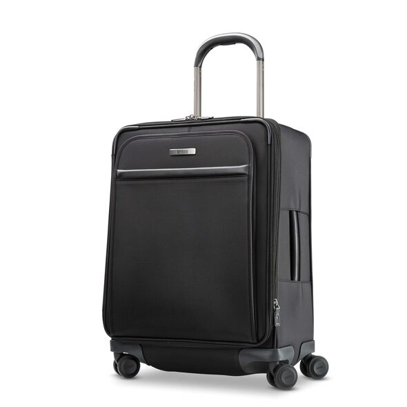 Hartmann Metropolitan 2 Domestic Carry On Expandable Spinner in the color Deep Black.