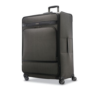 Hartmann Herringbone Deluxe Long Journey Expandable Spinner in the color Black Herringbone.