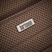 Hartmann Century Carry On Wheeled Garment Bag in the color Mocha Monogram.