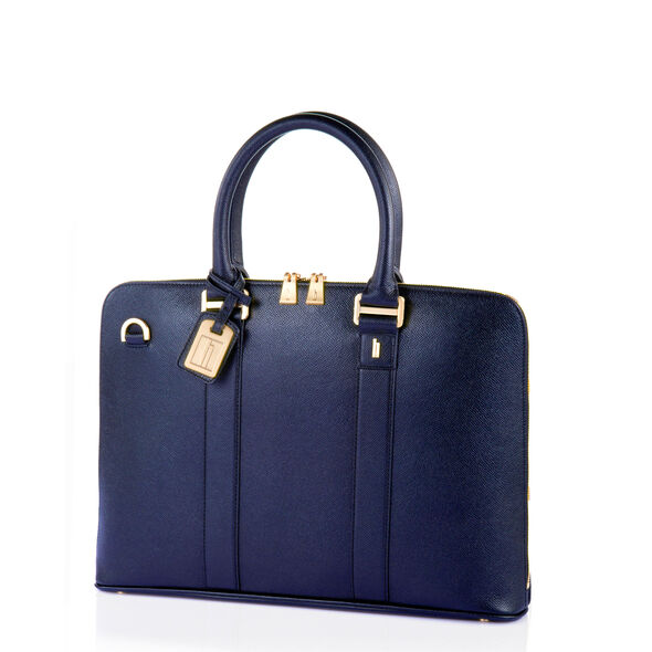 Hartmann Prestigie Slim Briefcase in the color Navy.