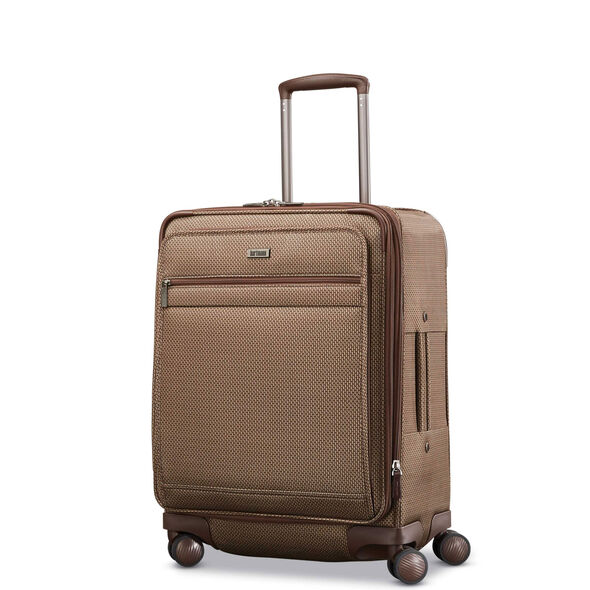 Hartmann Century Domestic Carry On Expandable Spinner in the color Mocha Monogram.