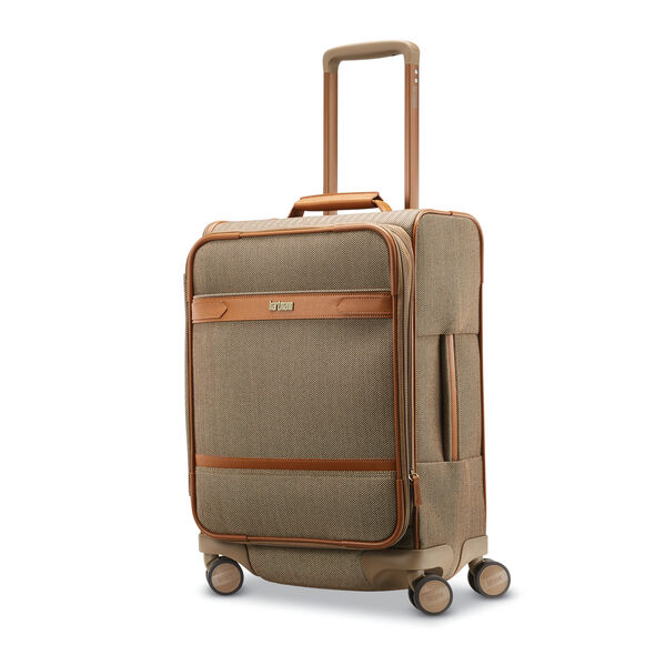 Hartmann Herringbone Deluxe Carry on Expandable Spinner in the color Terracotta Herringbone.