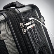 Hartmann Century Deluxe Hardside Carry-On Expandable Spinner in the color Gunmetal.