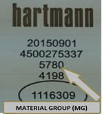 Hartmann Label Interior Example