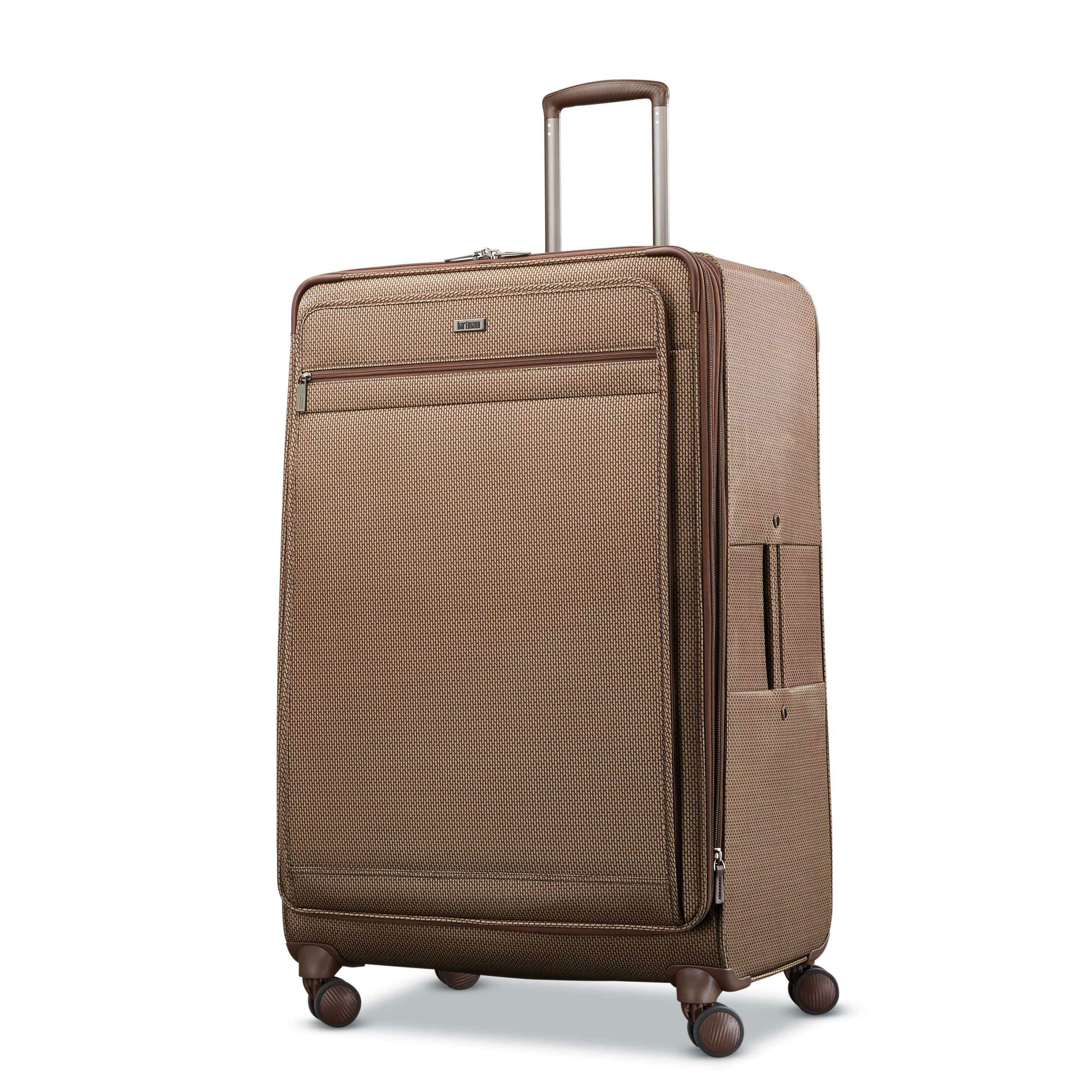 Hartmann Century Extended Journey Expandable Spinner in the color Mocha  Monogram. c6b88b9951468