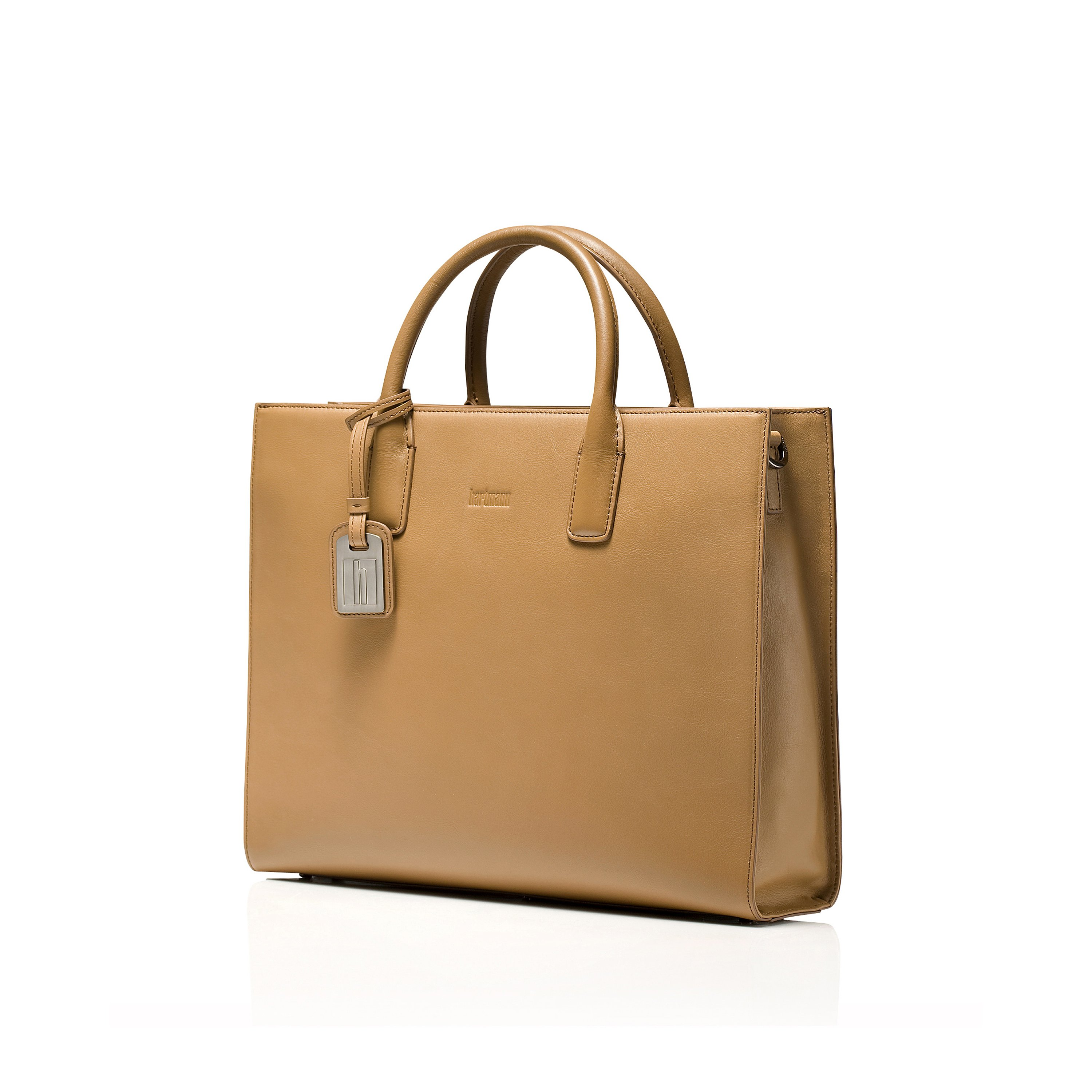 Hartmann Ashbon Single Gusset Briefcase In The Color Tan