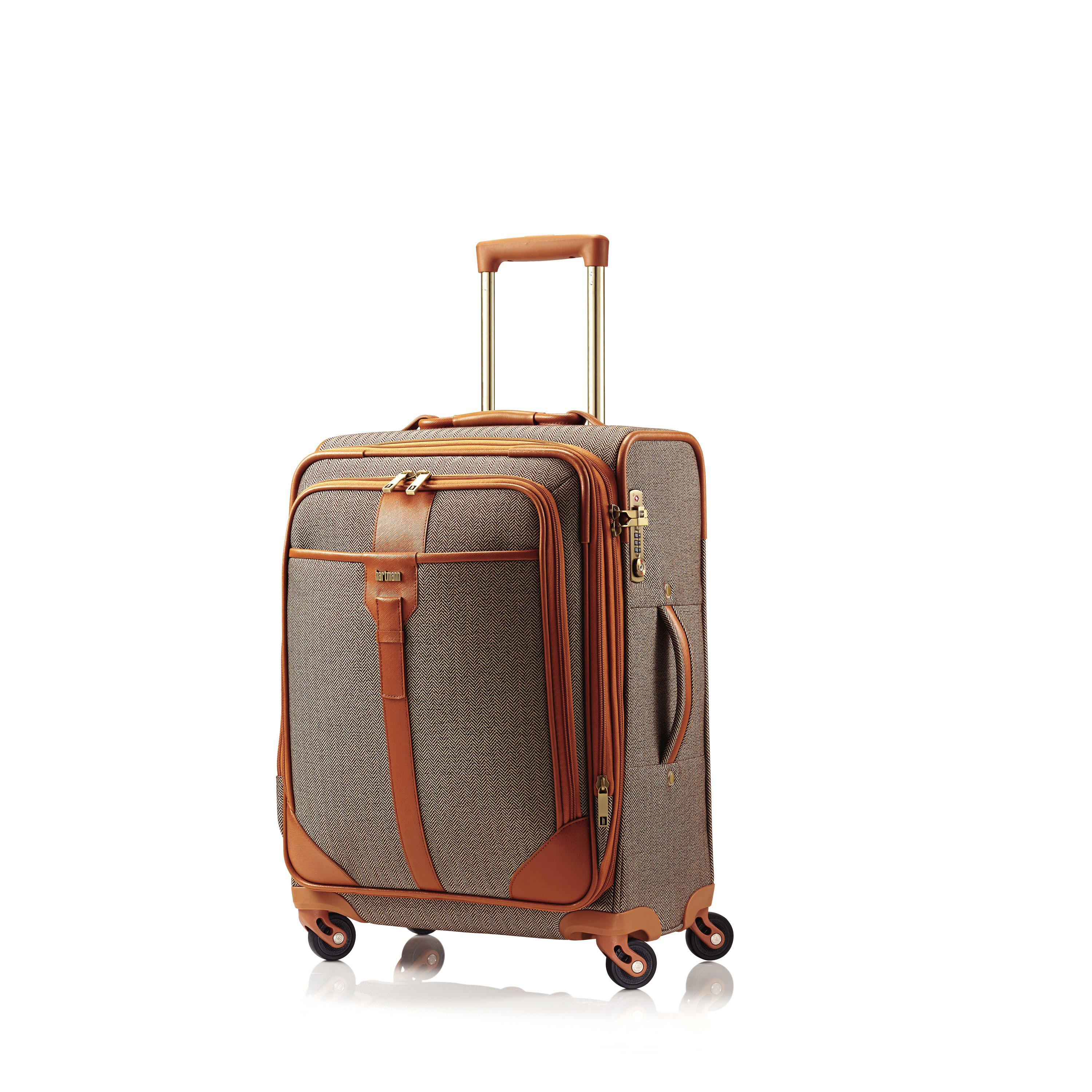 42581074b7d5 Hartmann Herringbone Luxe SS Carry On Spinner in the color Terracotta.