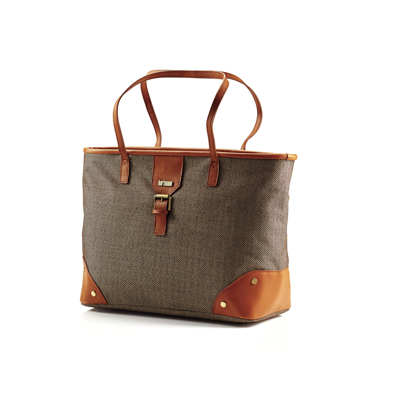 Hartmann Herringbone Luxe SS Shoulder Bag in the color Terracotta. ff8e58a2c03aa