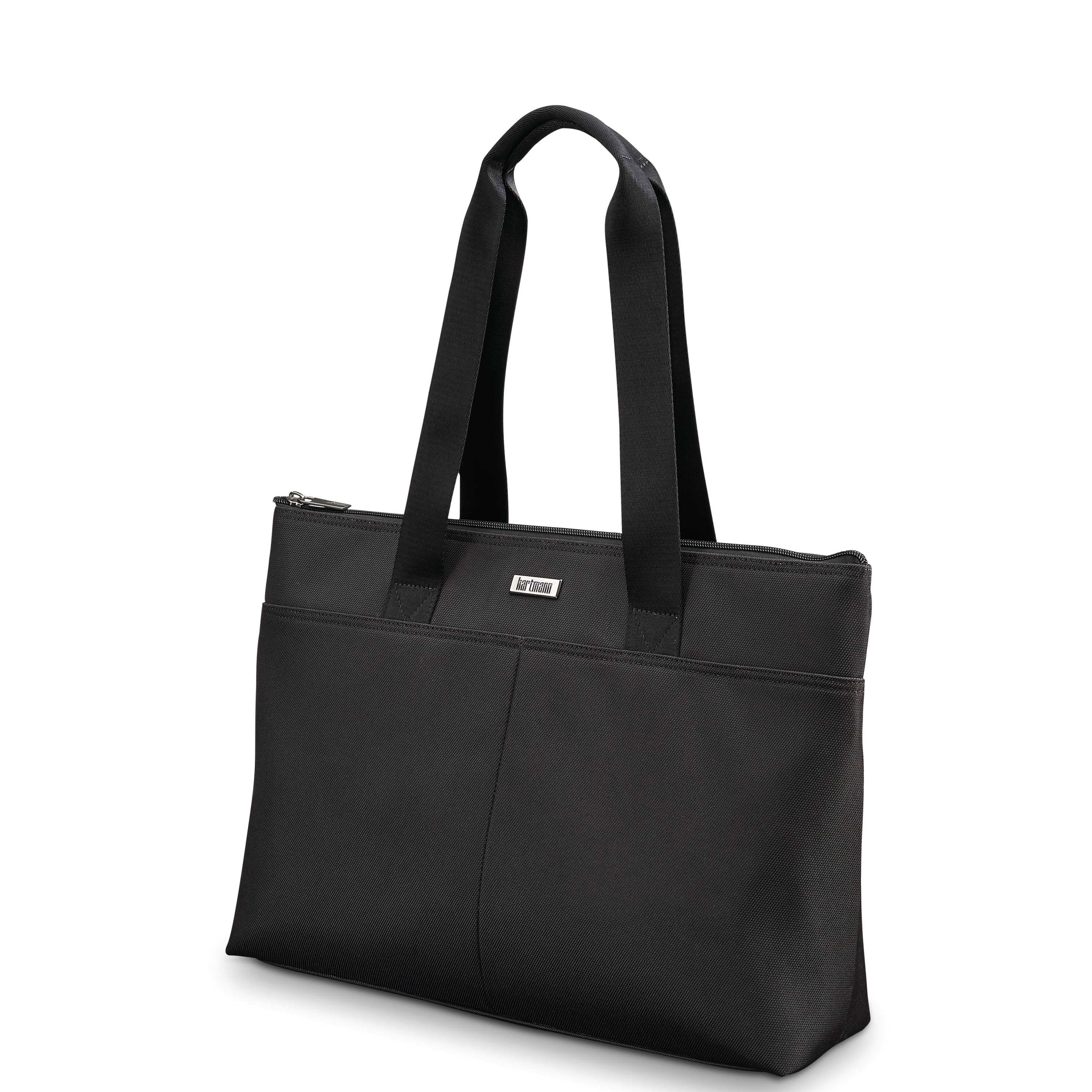 Hartmann Century Top Zip Tote In The Color Mocha Monogram