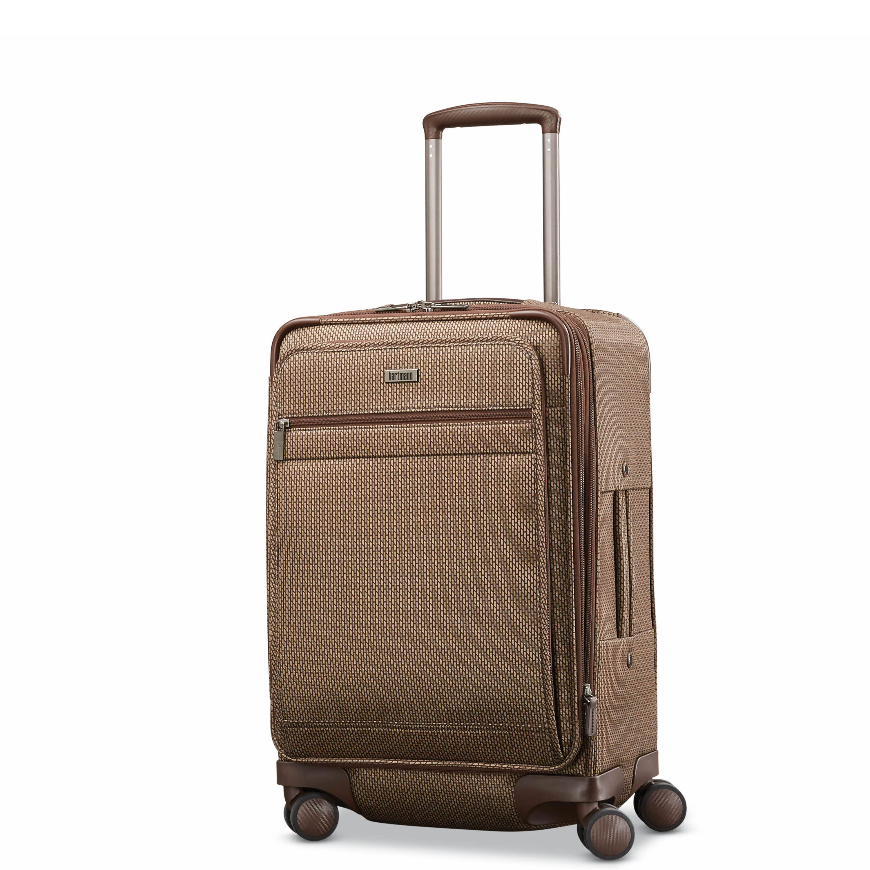 Hartmann Century Global Carry On Expandable Spinner in the color Mocha  Monogram. 75703a3579363