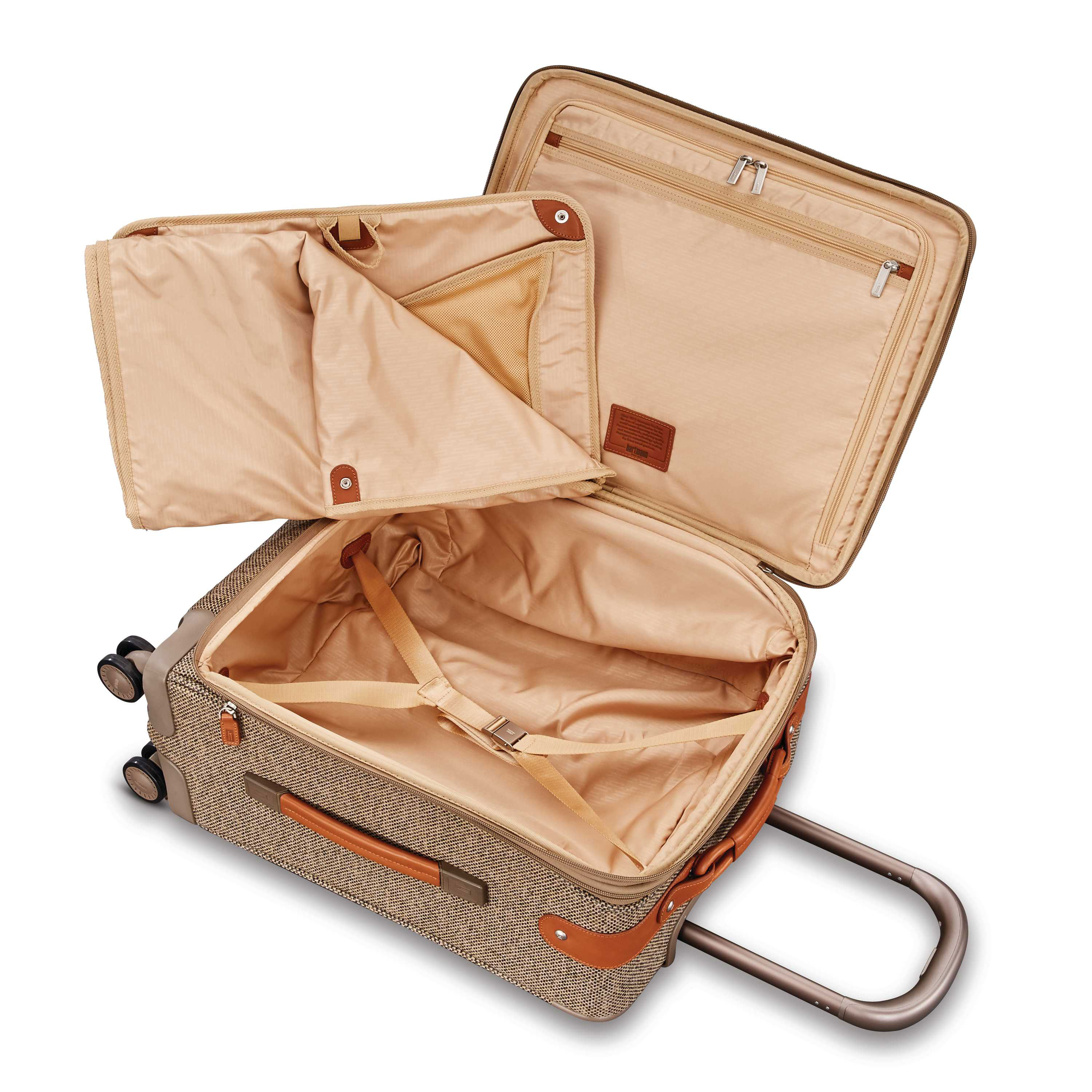049974d9d5 Hartmann Tweed Legend Extended Journey Expandable Spinner in the color  Natural Tweed.