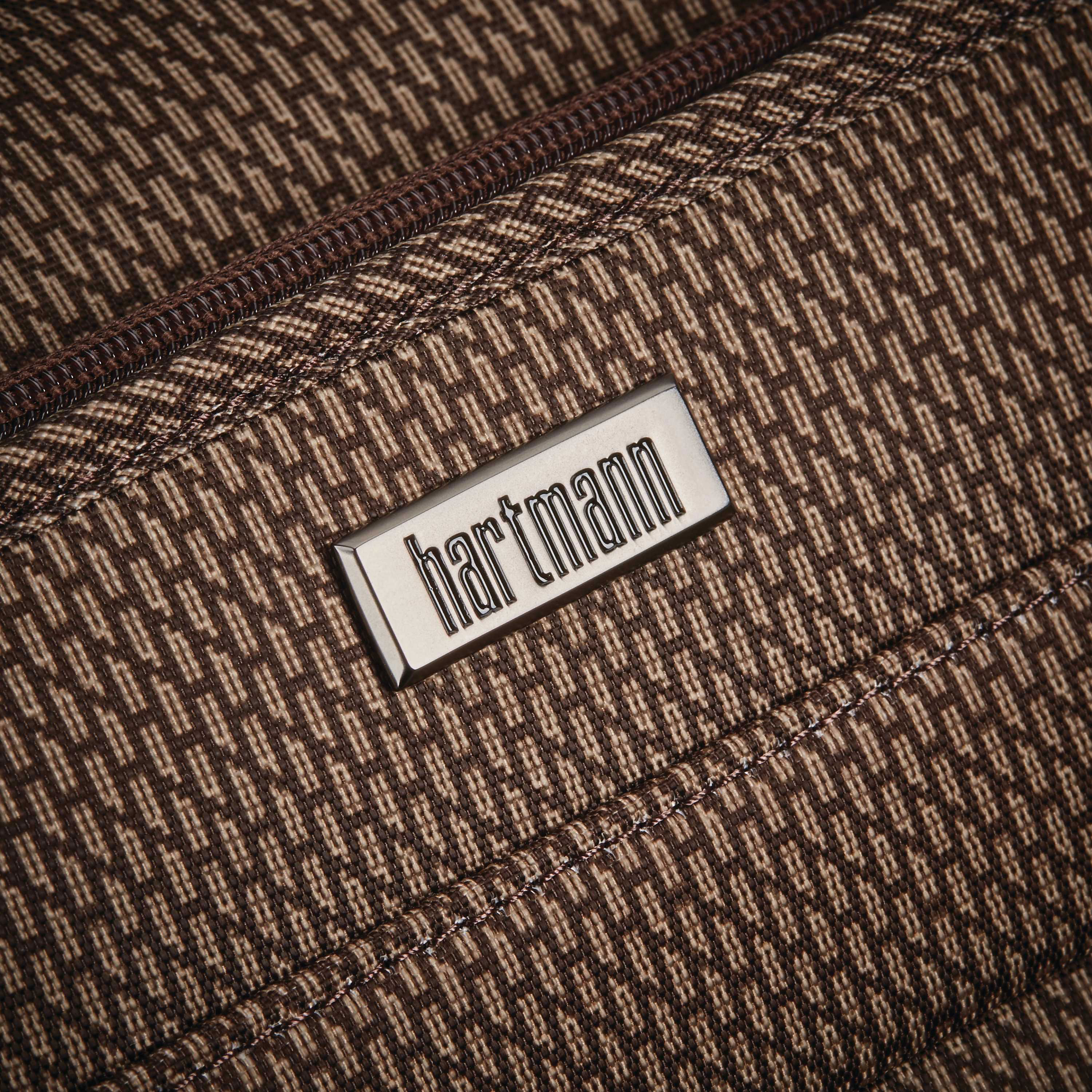 Hartmann Century Carry On Wheeled Garment Bag in the color Mocha Monogram. b6a5773121bc4
