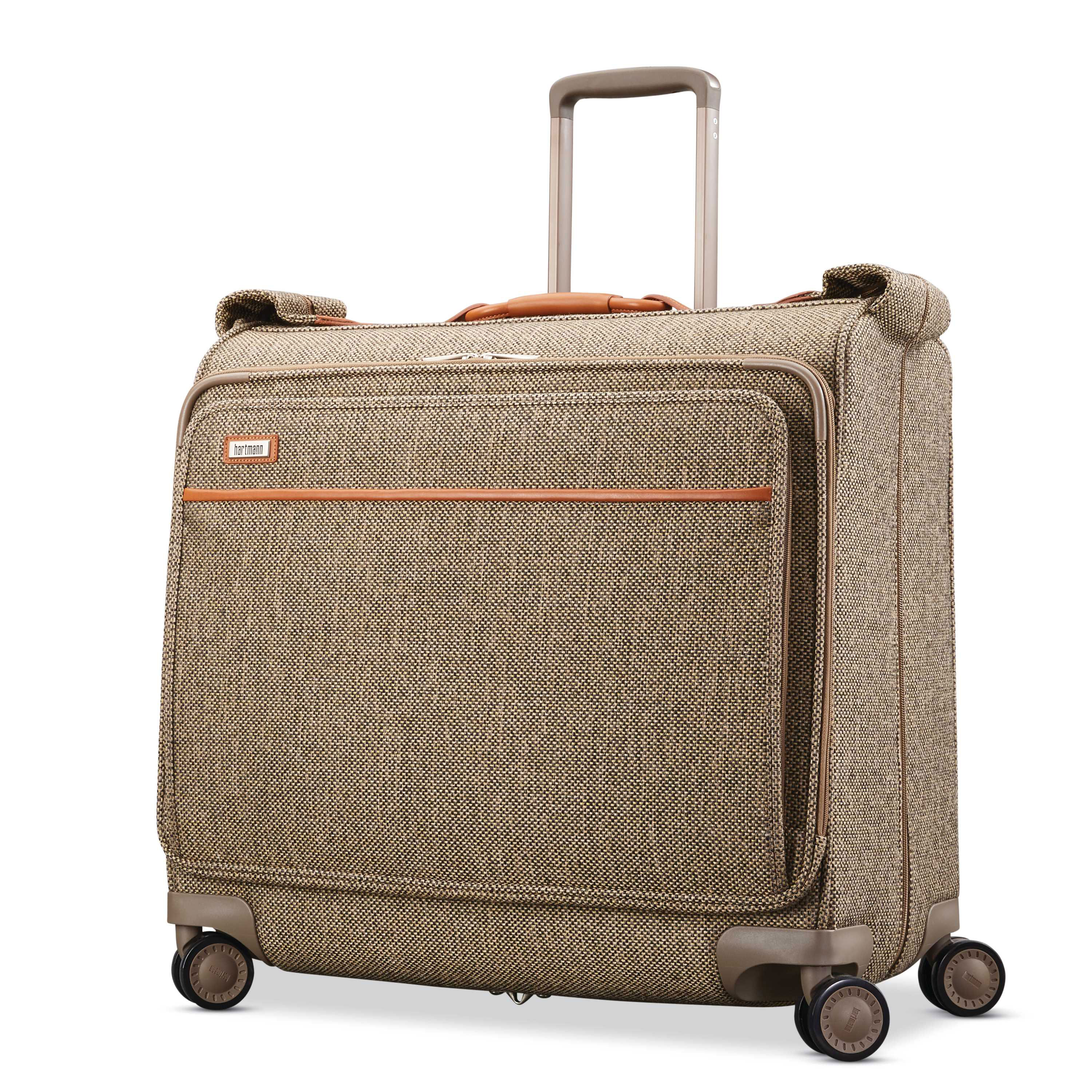 Hartmann Tweed Legend Voyager Spinner Garment Bag In The Color Natural